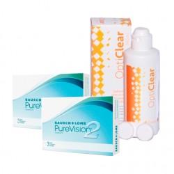 PureVision 2HD (3 lentes) + Liquido Opticlear 360ml