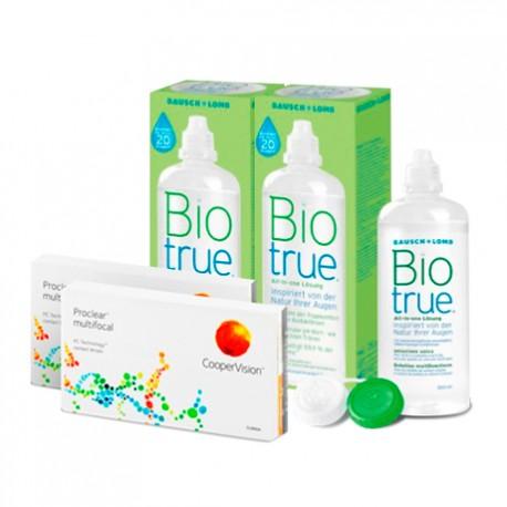 Biofinity Multifocal (6 lentes) + Liquido BioTrue 300ml