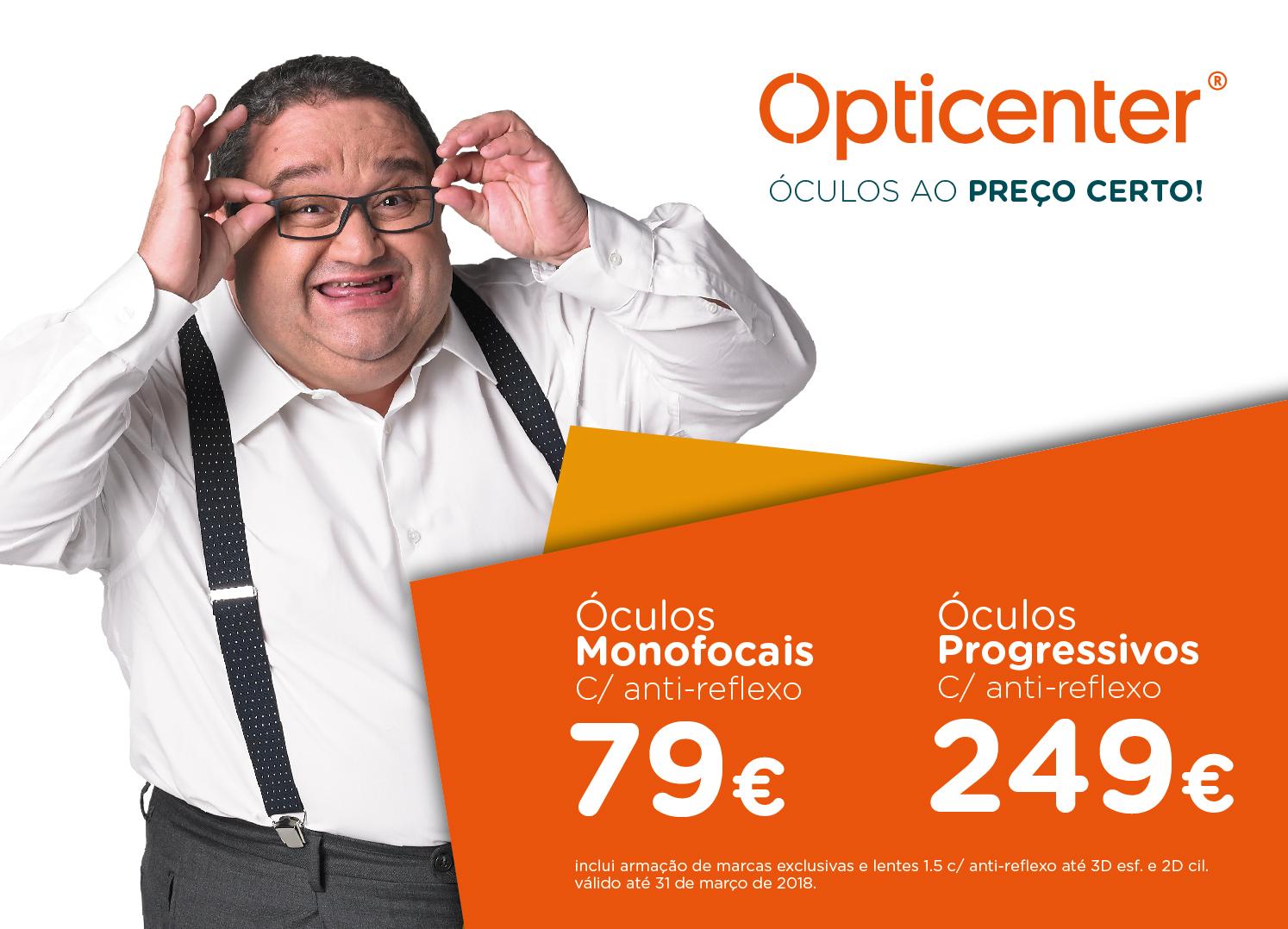 74f27a026 50% DE DESCONTO NOS SEUS ÓCULOS GRADUADOS - Opticenter - Óculos ao Preço  Certo!